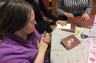 Atelier Cartes de Noël avec L'ARCHE